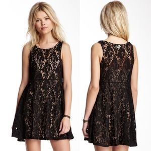 Free People Miles Of Lace Tank Skater Dress